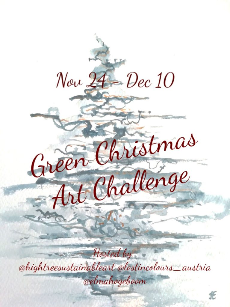 Green Christmas Art Challenge